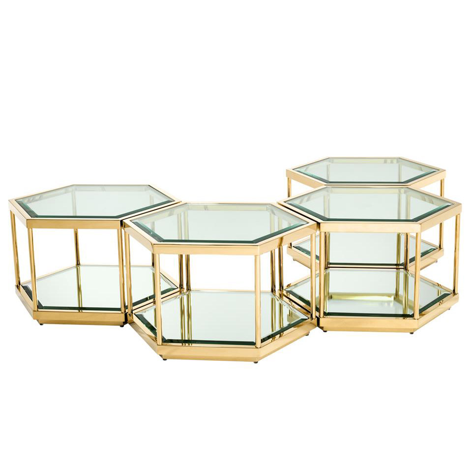 Sax Set Of 4 Gold Coffee Table